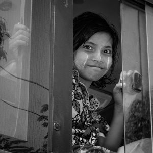 Girl on Bus (2014 Yangon, Myanmar)