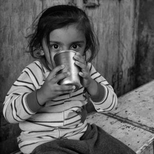 Girl with Cup (2016 Gujarat, India)